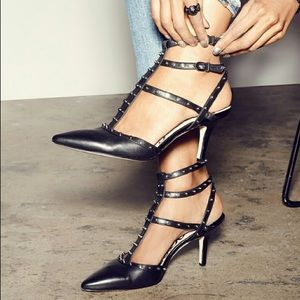 Sam Edelman studded heels sz:6.5 Ollie black